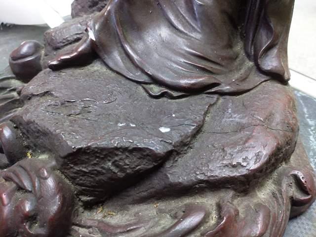 銅像修復前3